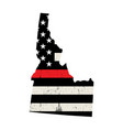 state idaho firefighter support flag vector image vector image