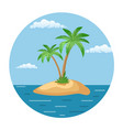 summer landscape of the tropical island vector image vector image