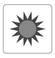 Sun icon Symbol black sunrise isolated heat vector image vector image