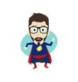 superhero cartoon vector image vector image