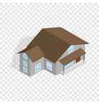 three storey house isometric icon vector image vector image