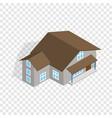 three storey house isometric icon vector image vector image