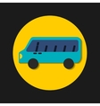 transport bus vehicle icon vector image