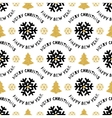 Trendy Xmas seamless pattern Merry Christmas and vector image