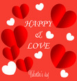 valentines day background with balloons heart vector image