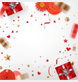 valentines holiday greeting card template banner vector image vector image