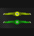 vs versus template on transparent vector image vector image