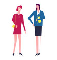 woman friends wearing working costumes suits of vector image vector image