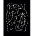 Zodiac constellation font alphabet vector image vector image