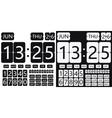 flip clock calendar vector image
