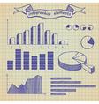 Infographics elements sketch vector image