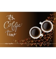 Abstract coffee design with beans vector image