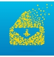 Abstract creative concept icon of envelope vector image