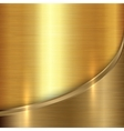 abstract precious metal background with curve vector image