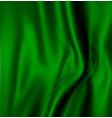 abstract texture green silk vector image vector image