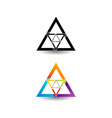 Abstract triangular colorful logo vector image vector image