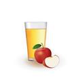 apple juice vector image