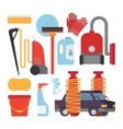 Automatic and hand carwash facilities Cleaning vector image