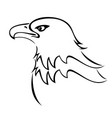 bald eagle mascot silhouette icon vector image