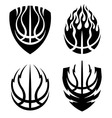 Basketball icon emblems set vector image vector image