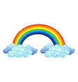 beautiful rainbow and clouds vector image