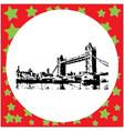 black 8-bit tower bridge vector image vector image