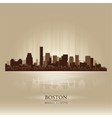 Boston massachusetts skyline city silhouette vector | Price: 1 Credit (USD $1)