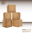 box with five steps vector image