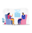 businessman at psychotherapy session business vector image vector image