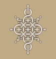 celtic knot - engraved - single chain - wand top vector image vector image