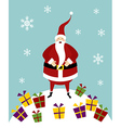 Christmas serie Happy Santa Claus on a snow vector image vector image