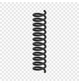 coil spring flexible cable mockup realistic style vector image vector image