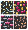Collection Carnival Seamless Textures vector image