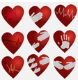 collection of hearts bits and pieces of the design vector image vector image
