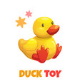 cute cartoon yellow duck stuffed toy baby vector image vector image