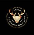 deer head geometric badge logo icon vector image