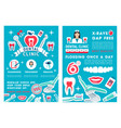 dentistry and dental clinic design vector image vector image