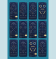 different ui ux gui screens and flat web icons vector image