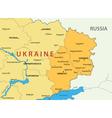 Donetsk and Lugansk regions of Ukraine - map vector image vector image