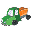 dump truckthe colorful painting large vector image