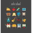 Education and school cute objects vector image