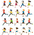 Faceless people running vector image vector image