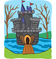 Fairy tale castle drawing vector image vector image