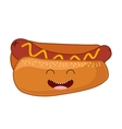 fast food character cute icon vector image vector image