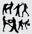 fighting sport silhouette vector image vector image