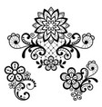 floral retro lace pattern - valentines day vector image vector image