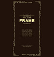 frame template line style vector image vector image