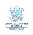 generate alternative solutions blue concept icon vector image vector image