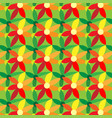 geometric pattern with flowers vector image vector image