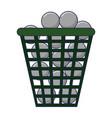 golf balls in basket